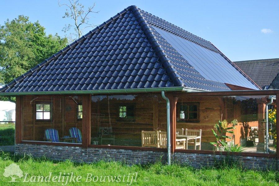 Thuiskantoor Uitbouw Tuin : Garage of schuur landelijke bouwstijl