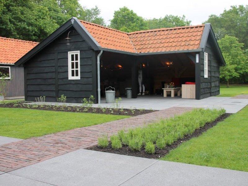 Houten Tuinhuis Of Blokhut Landelijke Bouwstijl